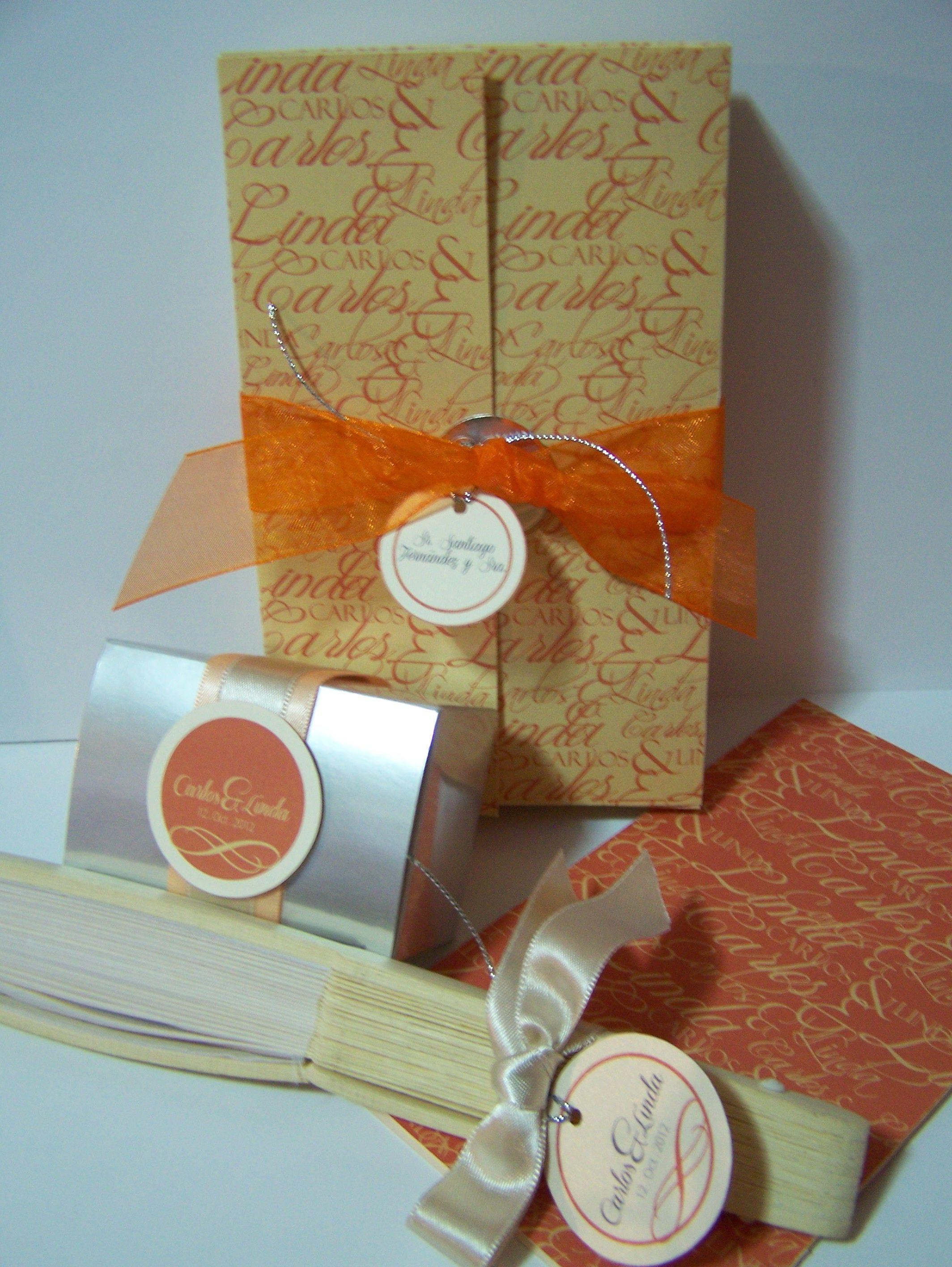 Invitación + Personalizados para boda