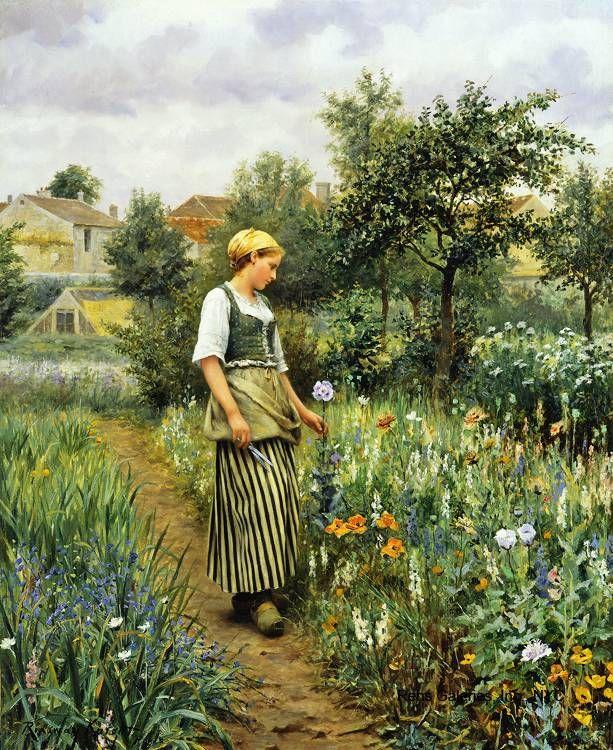 Artiste américain Daniel Ridgway Knight (1839 à 1924).