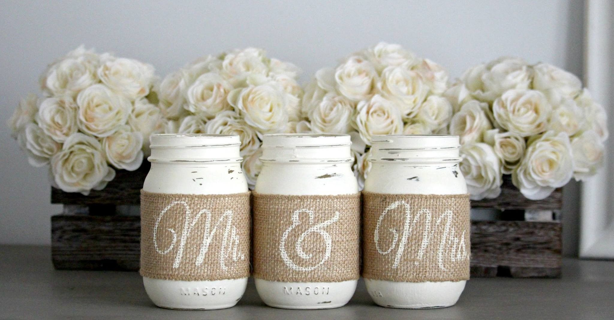 Rustic Wedding Table Decor,Rustic Bridal & Engagement Gift | Wedding ...