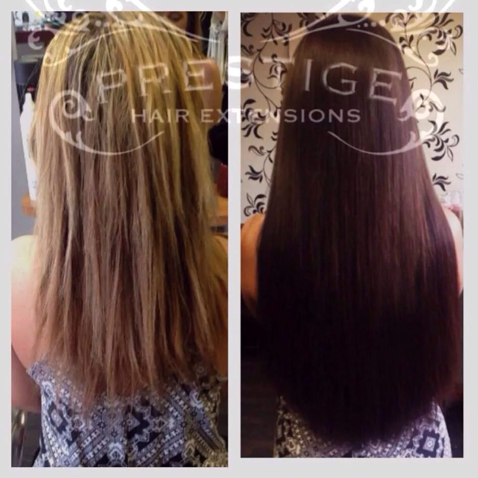 Blonde To Brunette Micro Keratin Bonded Hair Extensions Using