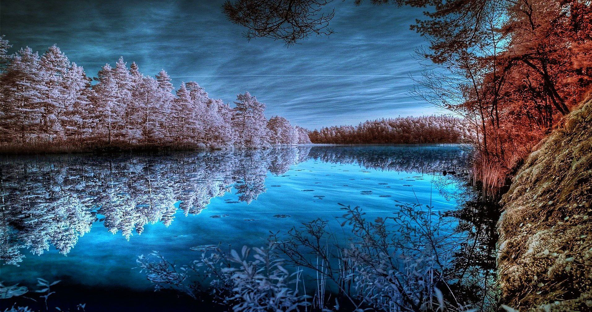 Frozen Riverside Desktop Background Wallpaper Free Landscape Wallpaper Landscape Background Winter Landscape