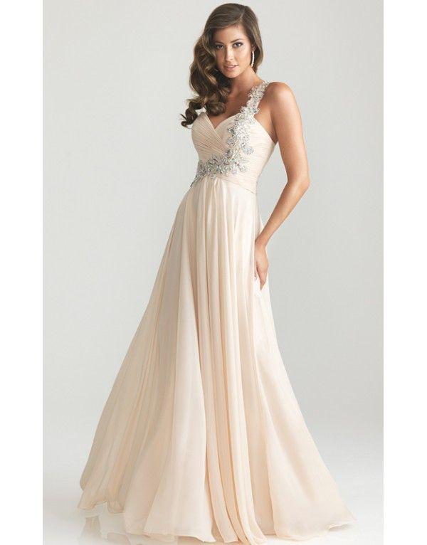 champagne antické svatební plesové společenské šaty na jedno rameno Ruby  XS-M - Hollywood Style E-Shop 4d1e838e8a