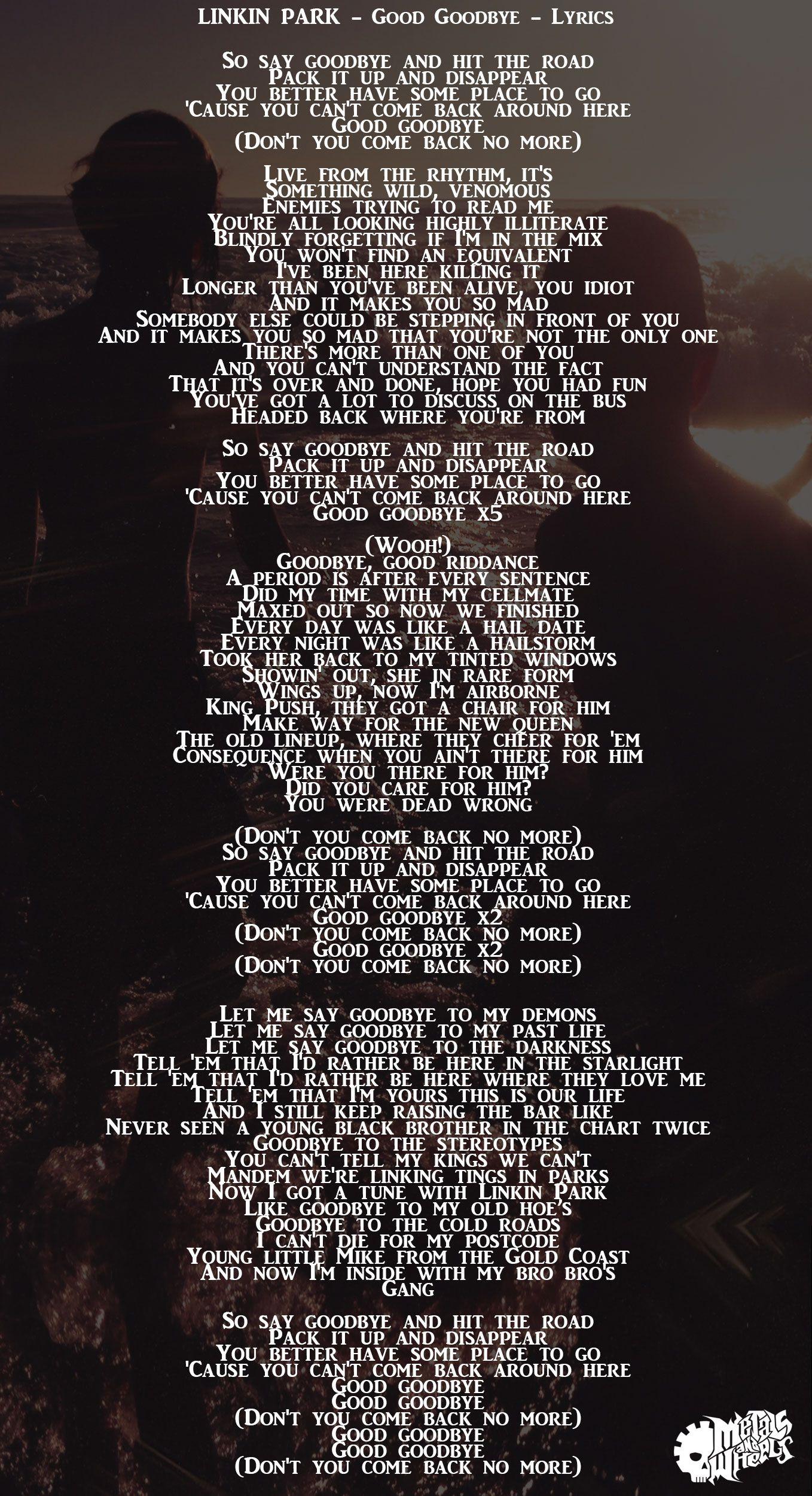 Good Goodbye - One More Light - Linkin park Lyrics | In