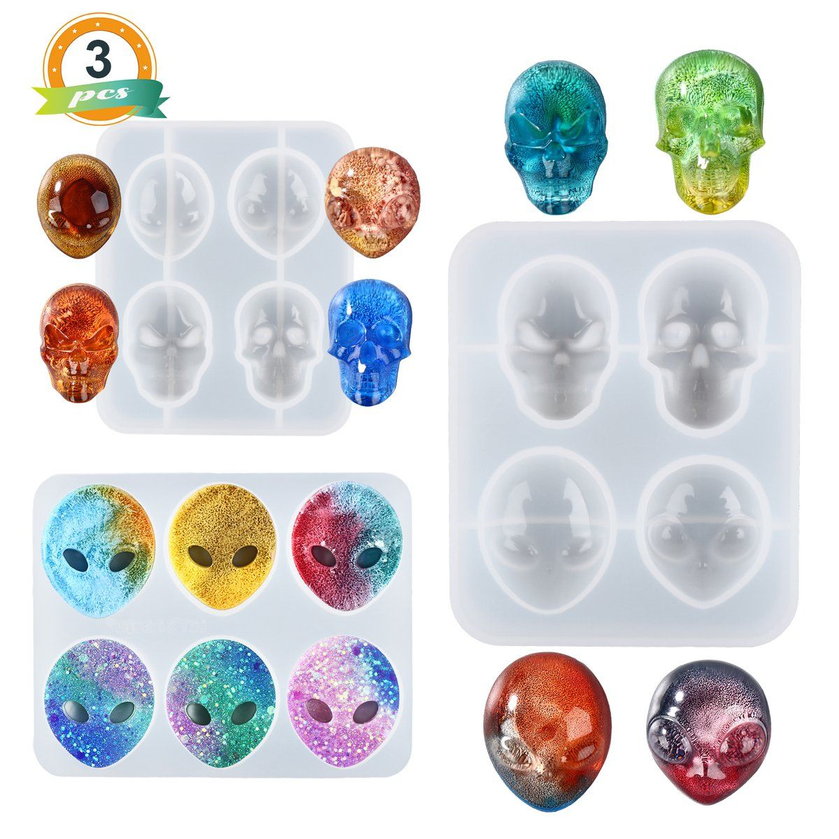 Mini Alien Earring Silicone Mold Silicone Resin Molds