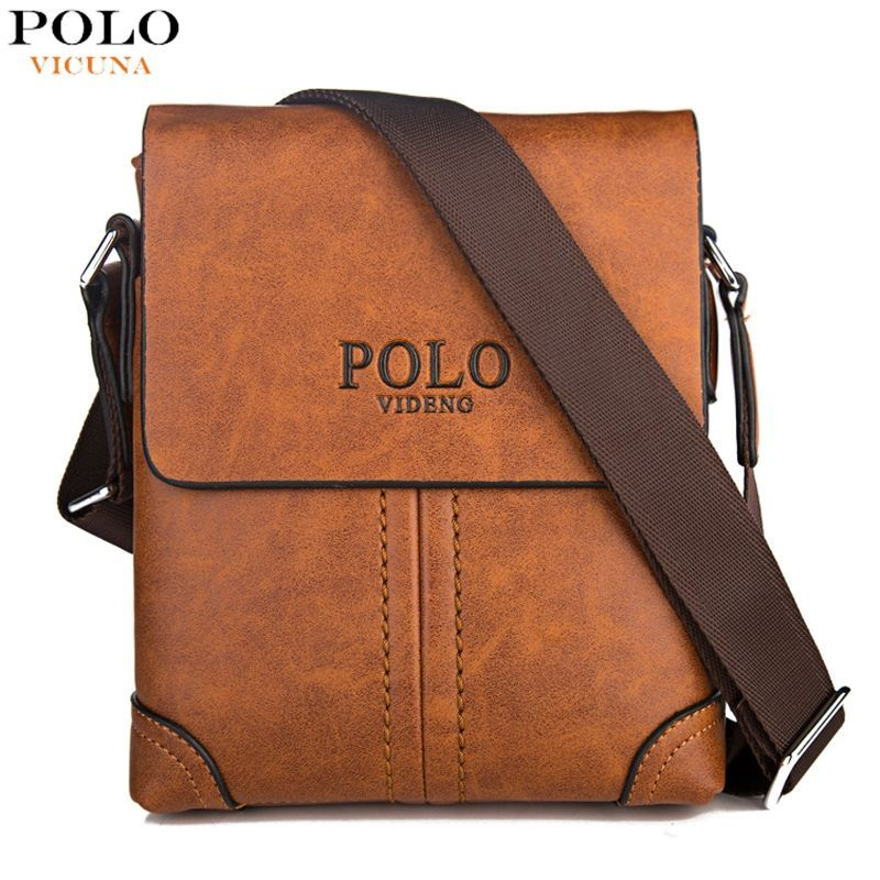 ec718afe9a VICUNA POLO Durable Frosted Leather Men Messenger Bags Vintage Famous Brand  Business Casual Man Bag Small Simple Leather Bag-in Crossbody Bags from  Luggage ...
