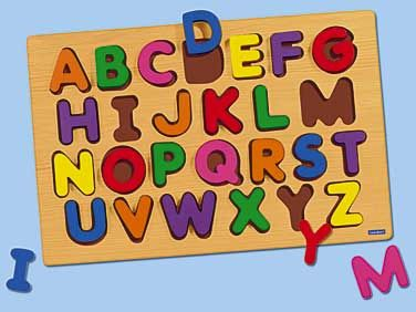 Giant Wooden Alphabet Puzzle Uppercase At Lakeshore Learning Wooden Alphabet Puzzle Wooden Alphabet Alphabet Puzzles