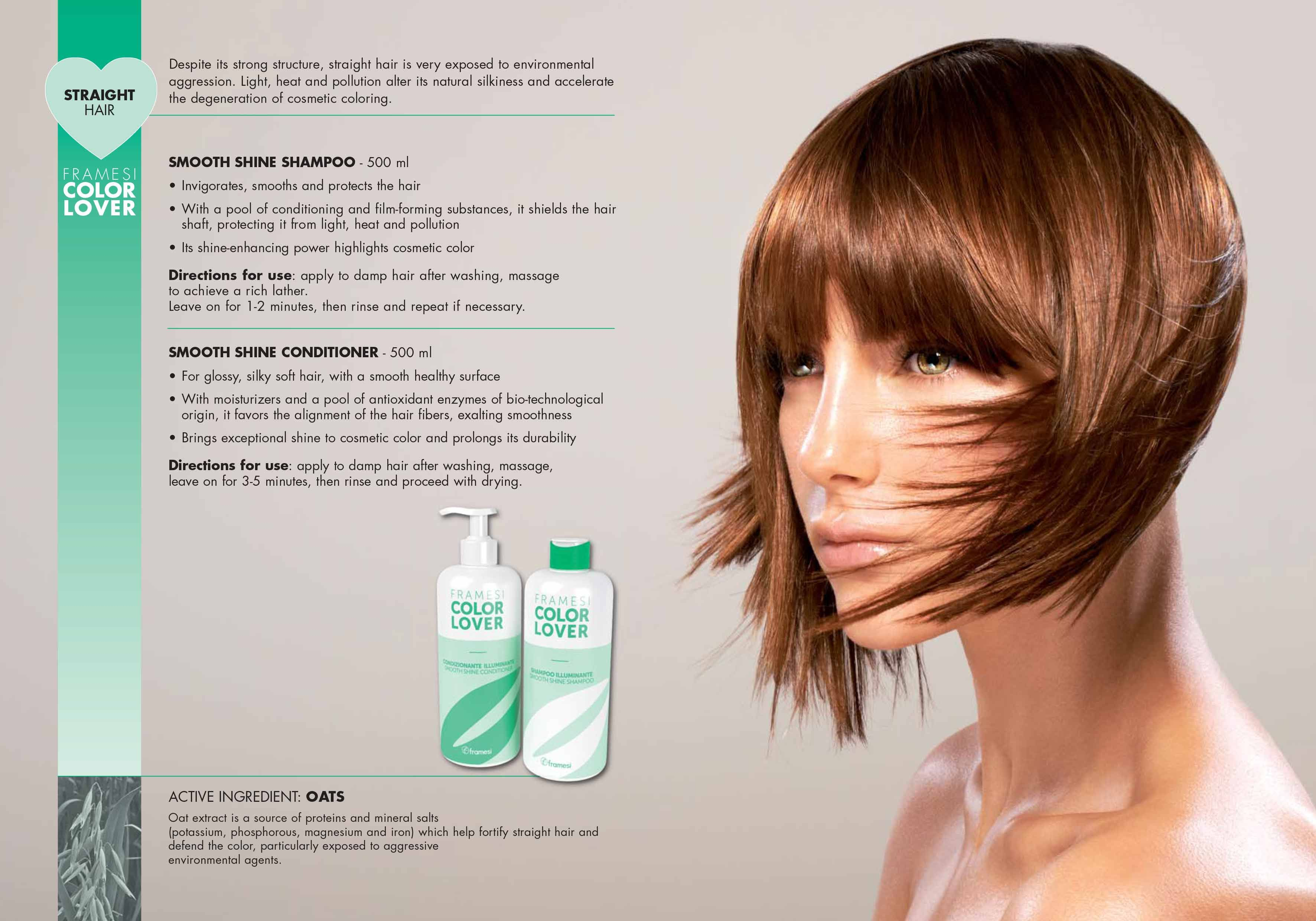 Framesi color lover smooth shine shampoo conditioner straight framesi color lover smooth shine shampoo conditioner straight hair pmusecretfo Choice Image