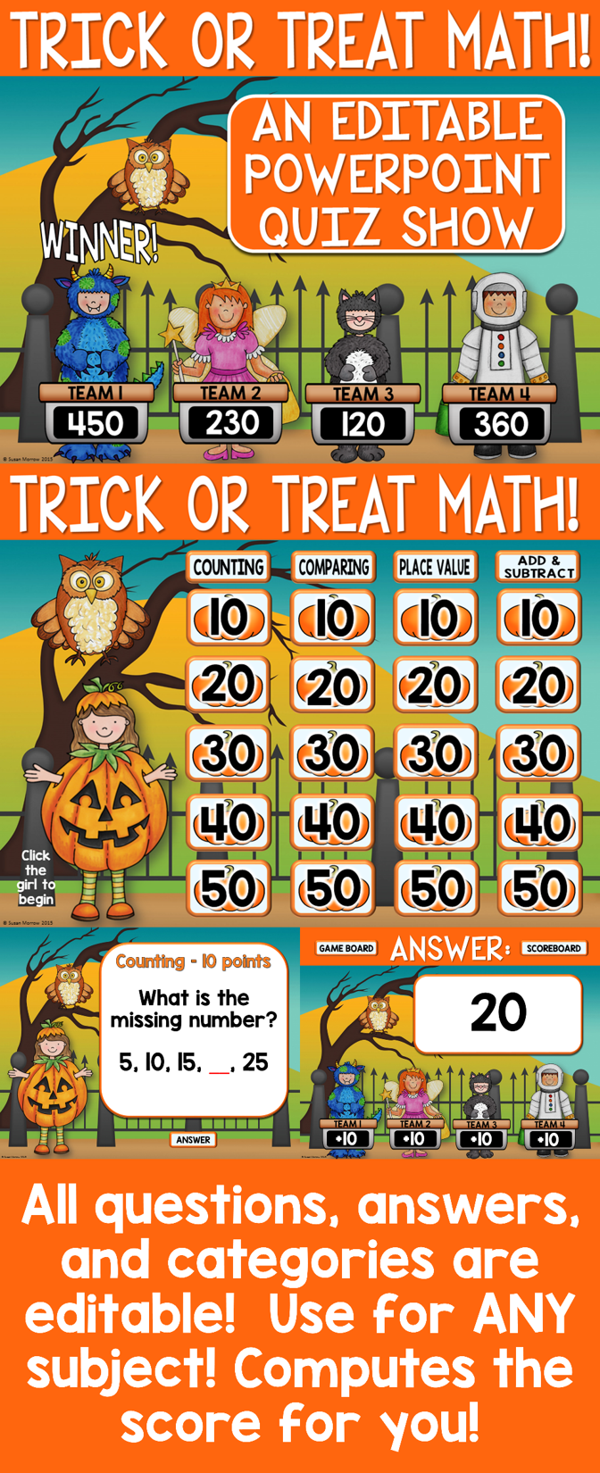 Pin By Susan Morrow On In The Classroom Mathematics Math Review Game Halloween Math Math Review [ 1650 x 672 Pixel ]