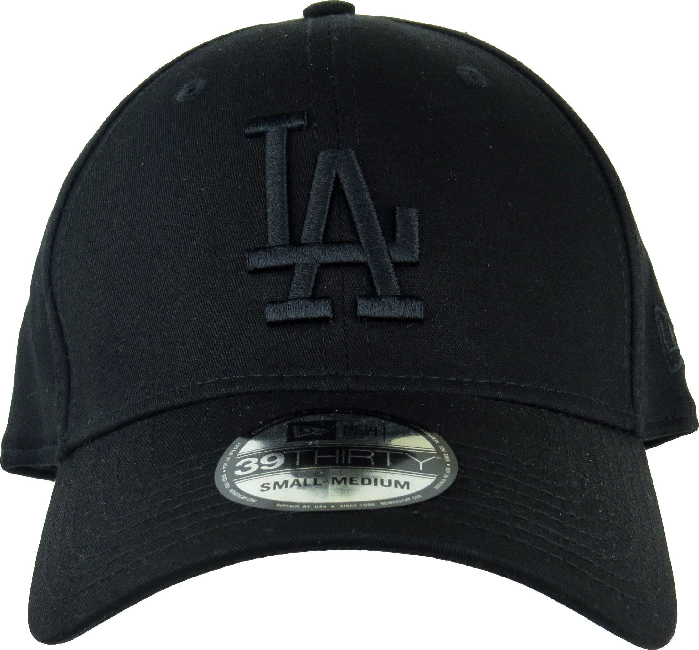 199cf1ead New Era 39Thirty Los Angeles Dodgers League Essential Baseball Cap. Black,  with Black LA front logo, and New Era side logo. Stretch fit cap, available  in 3 ...