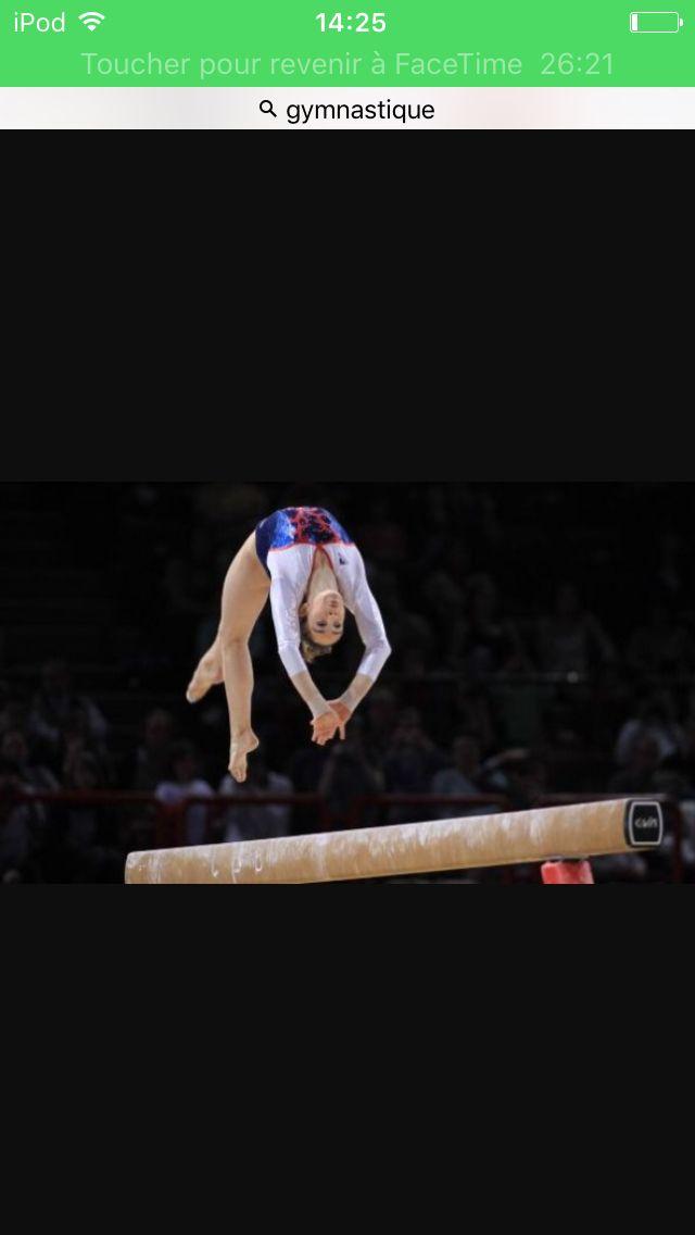 La vie t'as appris des choses, mais la gym t'as appris la vie.  Gymnaste: Youna Dufournet (France)  Agrès: Poutre