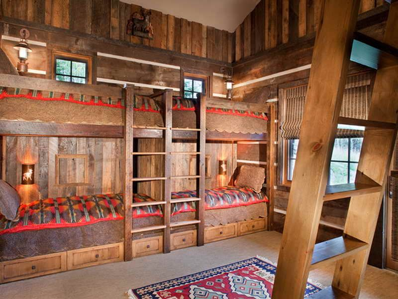 Lodge Style Bedroom Furniture: Style Bedroom Rustic Mountain Lodge