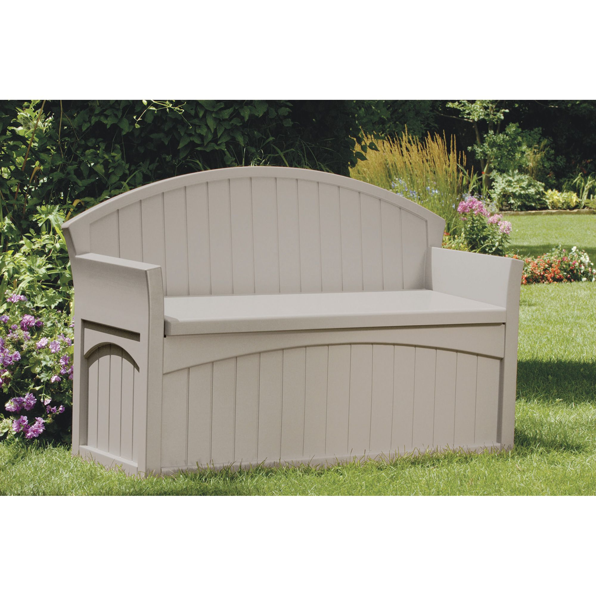 Suncast Patio Bench With 50 Gallon Storage Compartment Model Pb6700 Benches Patio Storage Outdoor Storage Bench Suncast Patio