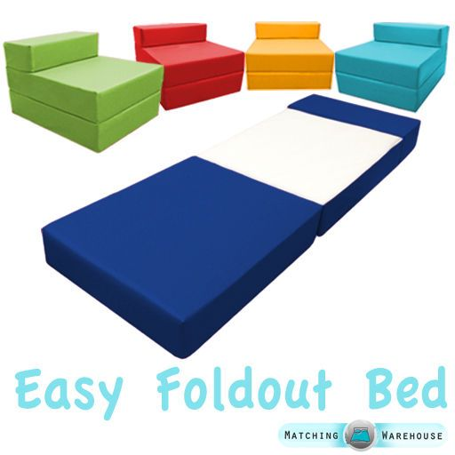 Fold Out Foam Guest Z Bed Chair Waterproof Sleep Over In Or