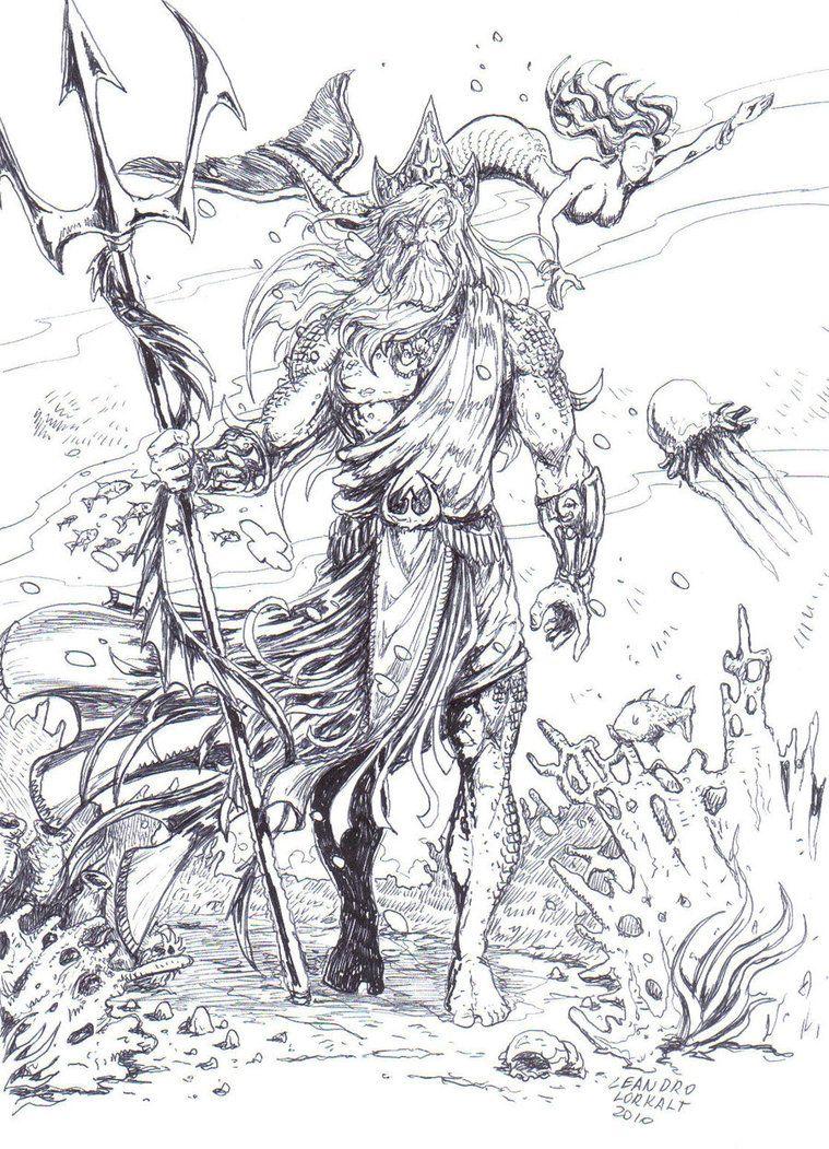 Poseidon Tattoo Designs Madscar Illustrationイラスト
