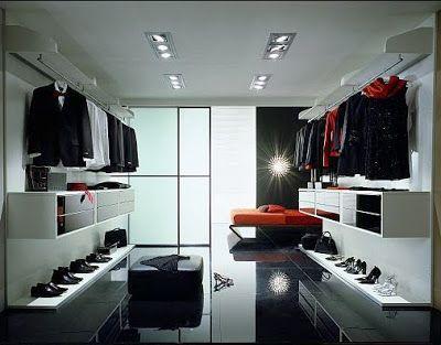 Walk in closet modernos y amplios diseno de interiores Diseno de interiores closets modernos