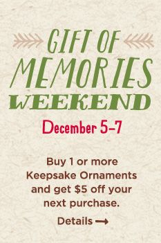 Hallmark Gift of Memories Weekend. Don't miss this special event at Dar's Hallmark.
