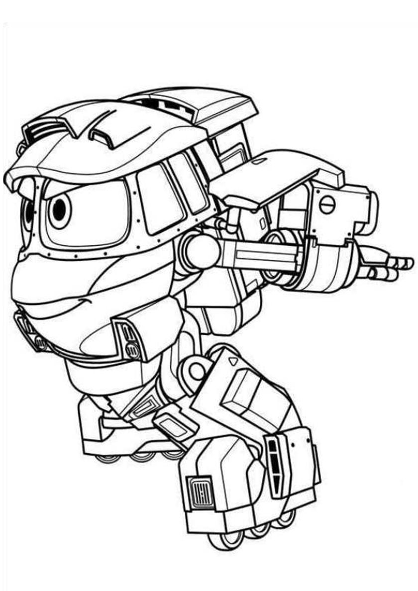 "Robot Trains free printable coloring pages! ""Running Kay"