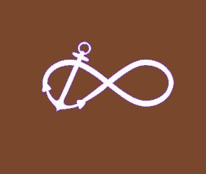 Infinity Anchor Decal Monogram Sticker Monogram Car Decal Vinyl - Monogram car decal anchor