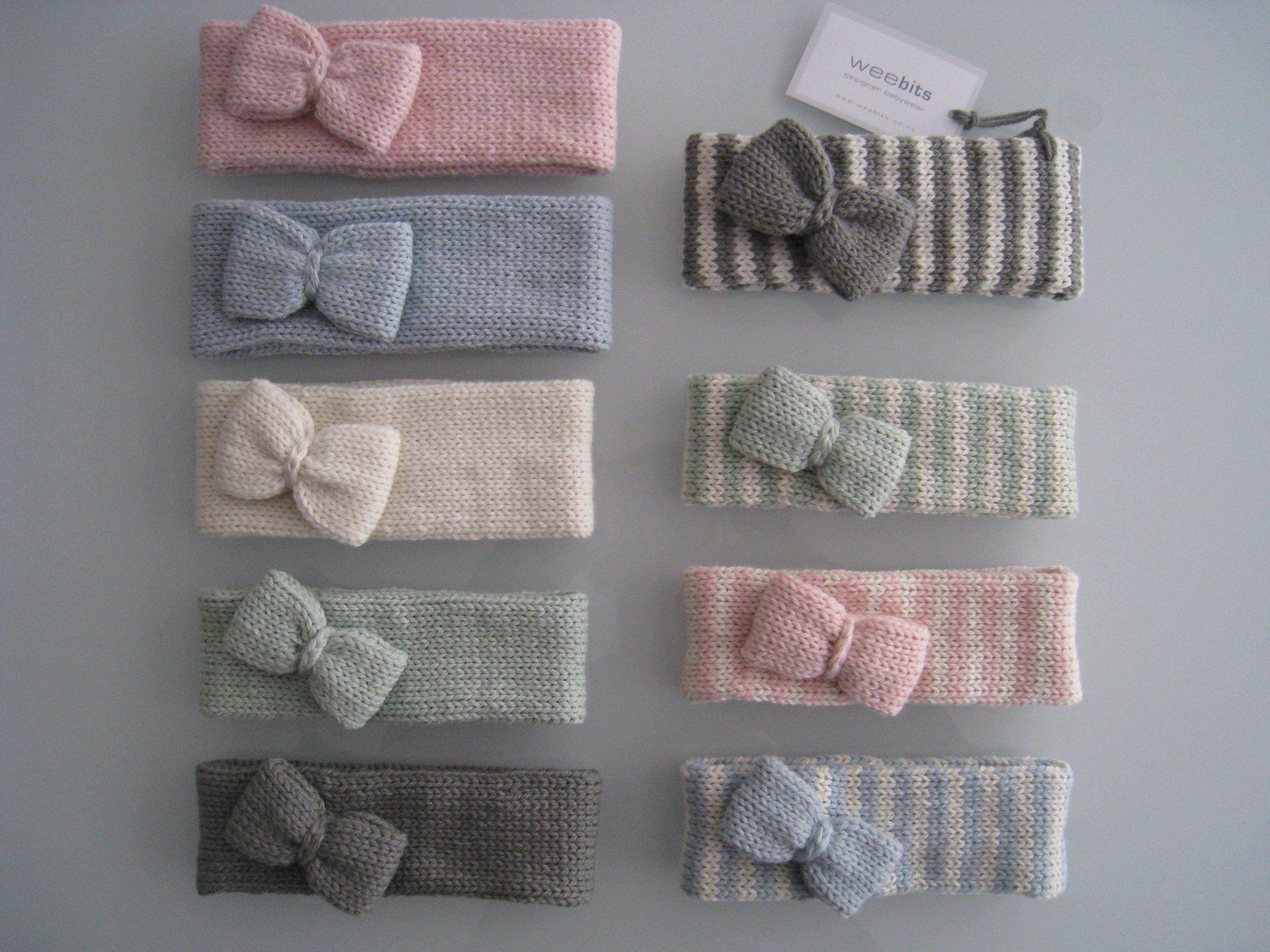 knitted merino headbands by weebits baby hats