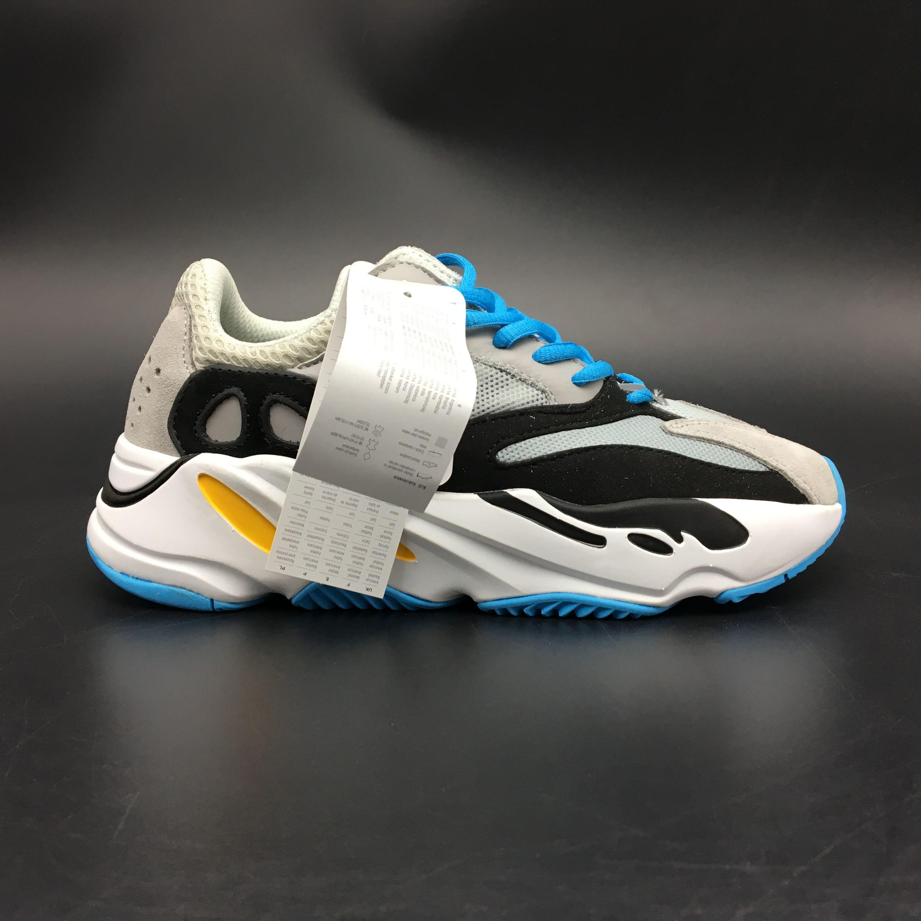 "NEW 2017 UA Adidas Yeezy Wave Runner 700 ""Gary Blue"" B75575"