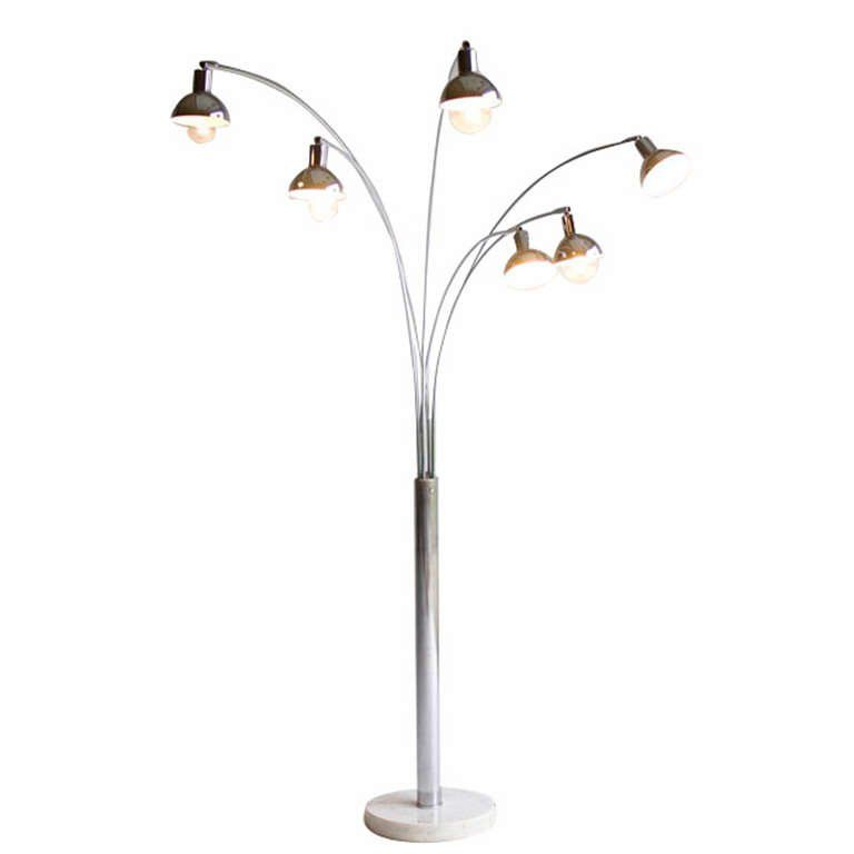 Six arm arc floor lamp for mutual sunset lighting company living six arm arc floor lamp for mutual sunset lighting company 1 aloadofball Gallery