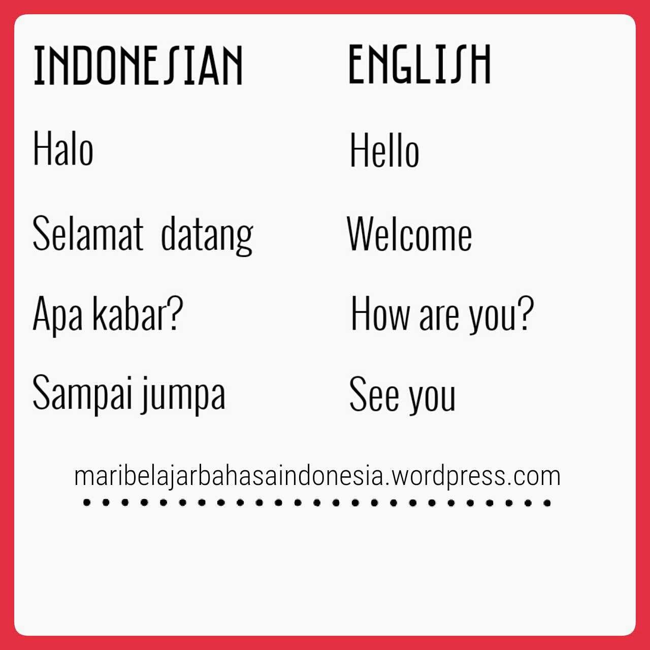 Indonesian Greetings