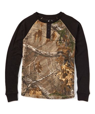 Take a look at this Brown Camo Thermal Henley on zulily today!