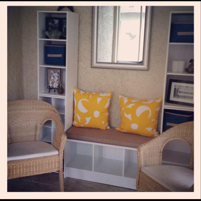Diy Entryway 4 Closetmaid Cube Shelves Closetmaid Bench