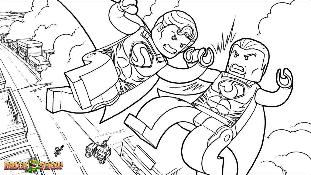 Lego Superman Coloring Page 20 Superman Coloring Pages