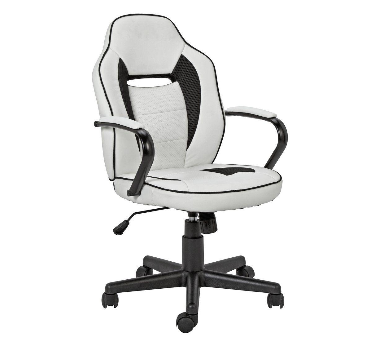 Wondrous Buy Argos Home Mid Back Gaming Chair White Black Machost Co Dining Chair Design Ideas Machostcouk