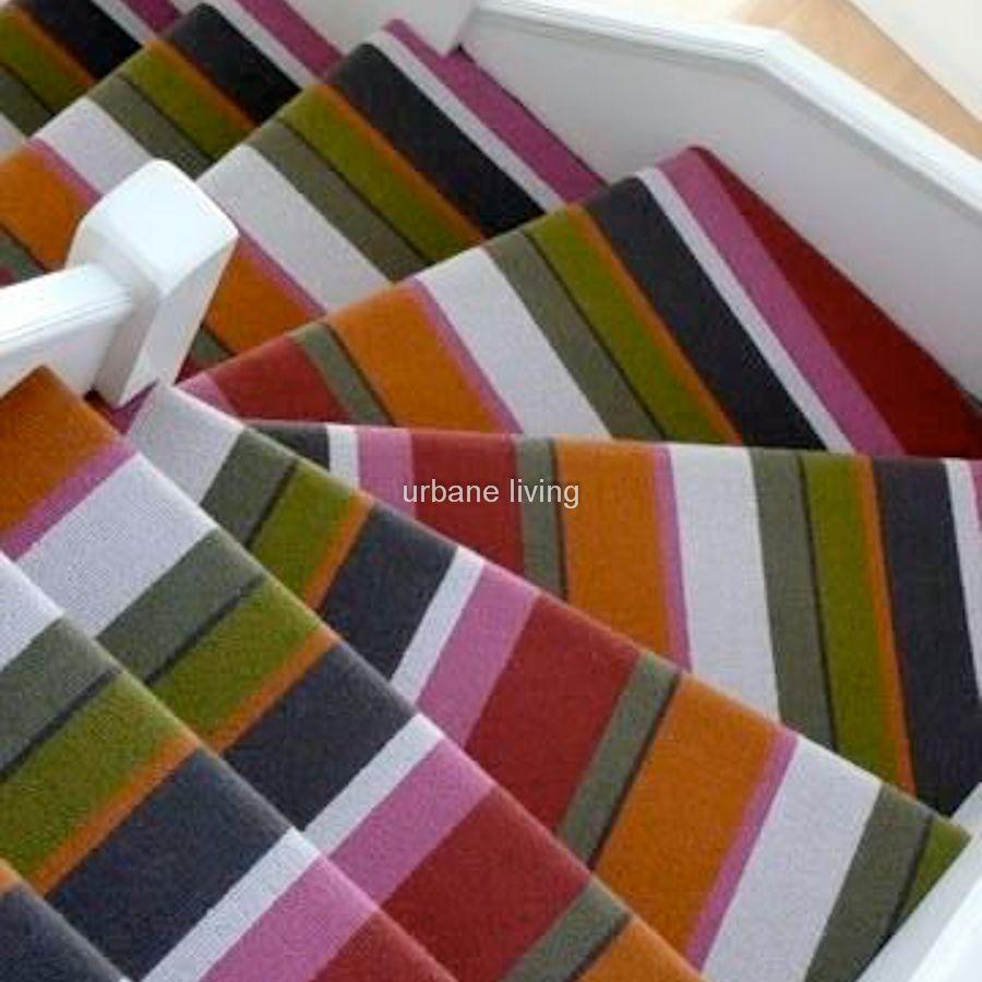 wide striped stair carpet  Floor Matttroy