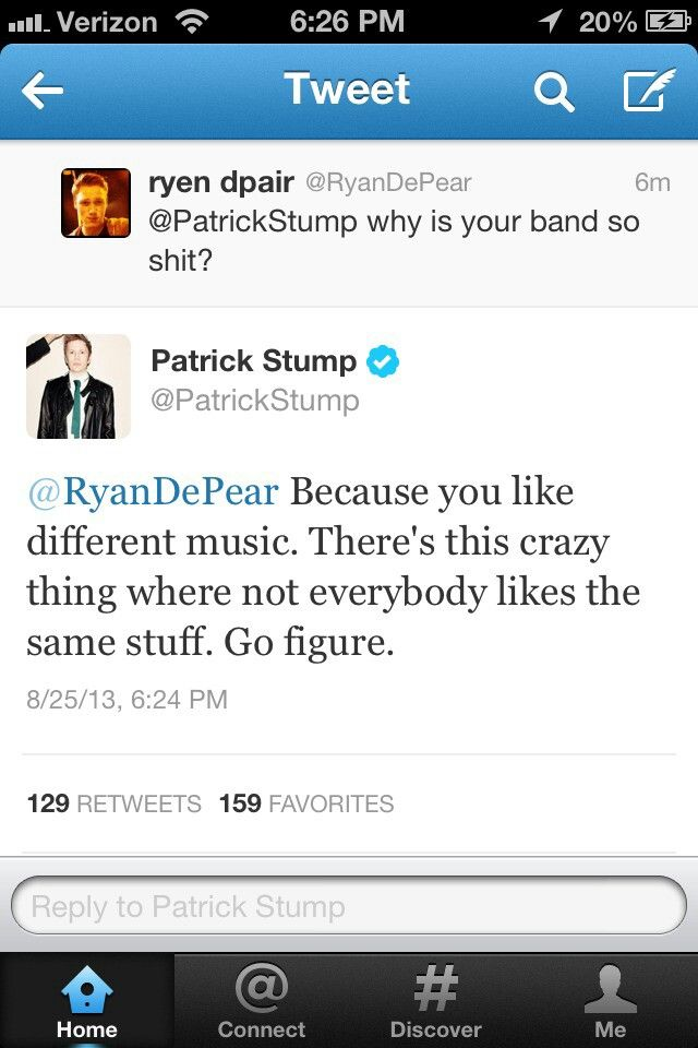 Patrick stump is a legend
