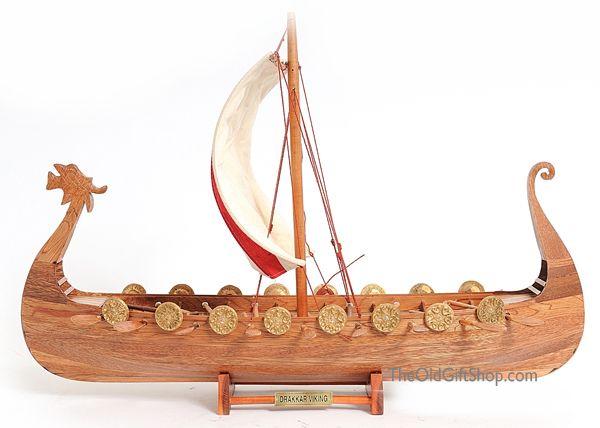 Small Wooden Viking Ship Model Dragons Viking Ship Model Ships