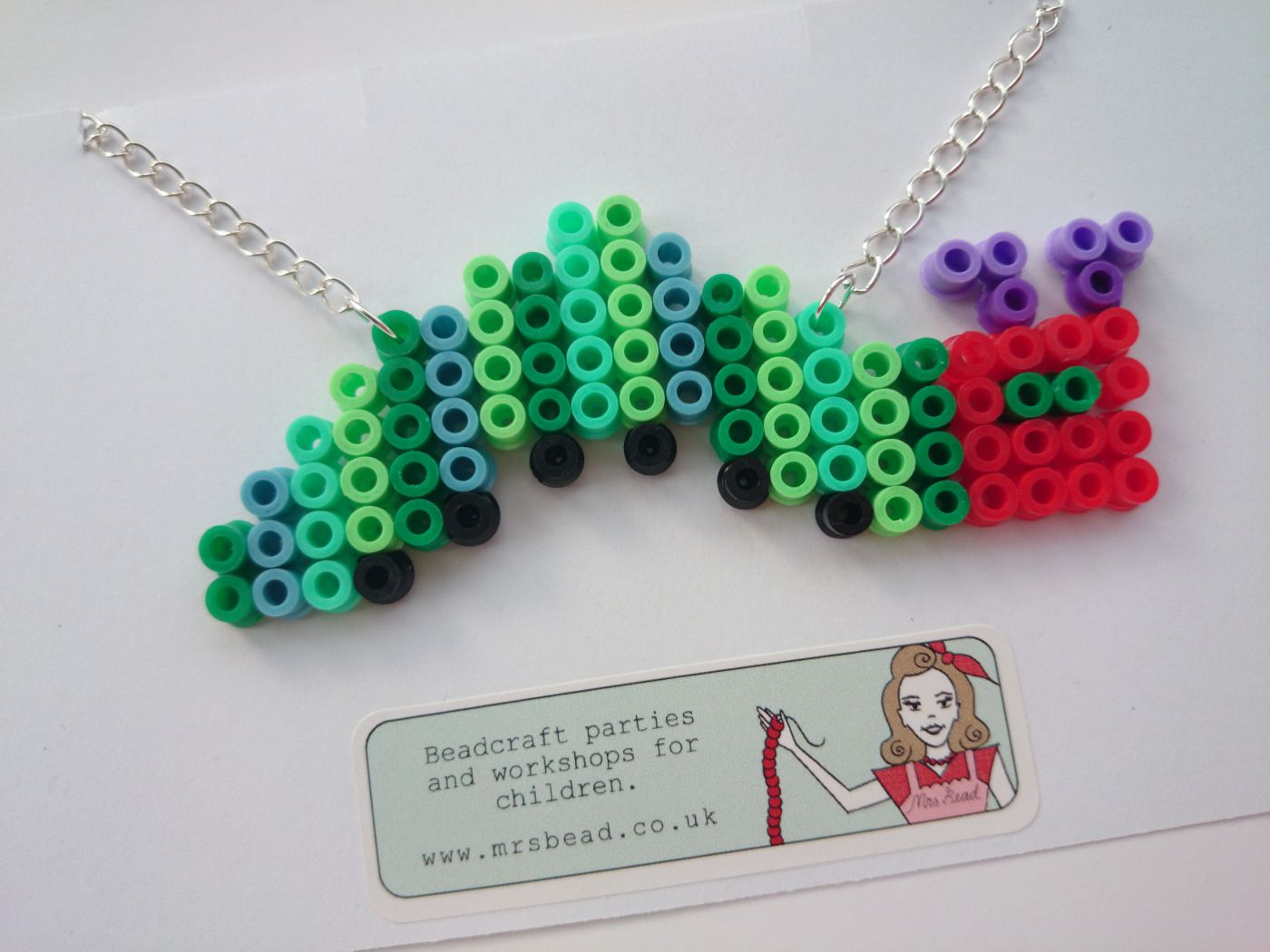 365 Day Challenge,  Day 9, The Hungry Caterpillar Hama Bead Necklace by Mrs Bead