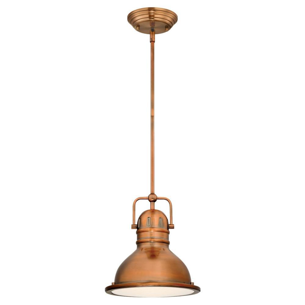 Westinghouse Boswell 1 Light Washed Copper Mini Pendant With