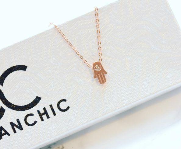 """""""Simple Hamsa"""" Necklace"""