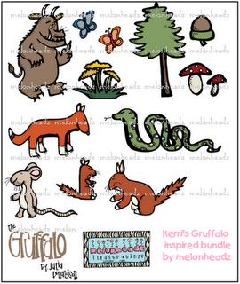 Gruffalo Inspired Bundle By Melonheadz Melonheadz Clip Art The Gruffalo