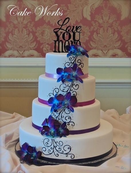 Find This Pin And More On Royal Blue Sept Wedding Ombre Purple Orchids