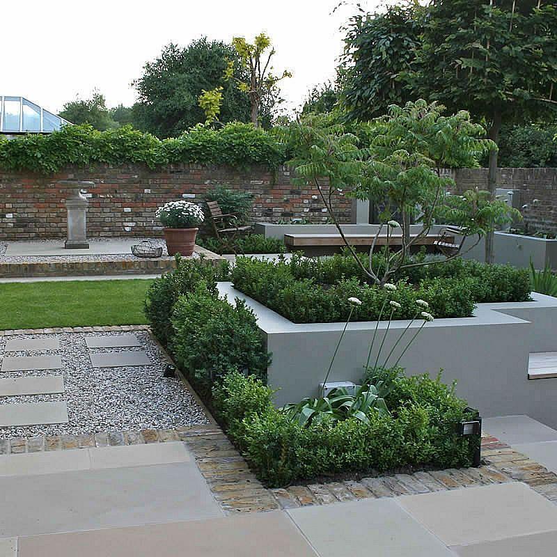 Multi Level Linear Garden Hertfordshire   Garden ...
