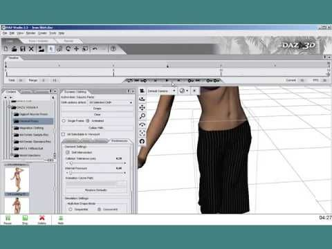 ▷ DAZ 3D - Dynamic Clothing Animation Tutorial - www daz3d