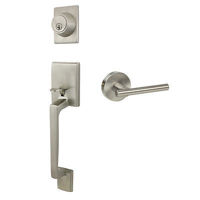 Beautiful Satin Nickel Entry Handleset