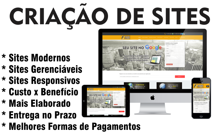 Criação de websites - TOPSITE - Agencia de sites !