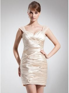 Mother of the Bride Dresses - $157.99 - Sheath/Column Sweetheart Short/Mini Charmeuse Mother of the Bride Dress With Ruffle  http://www.dressfirst.com/Sheath-Column-Sweetheart-Short-Mini-Charmeuse-Mother-Of-The-Bride-Dress-With-Ruffle-008006507-g6507