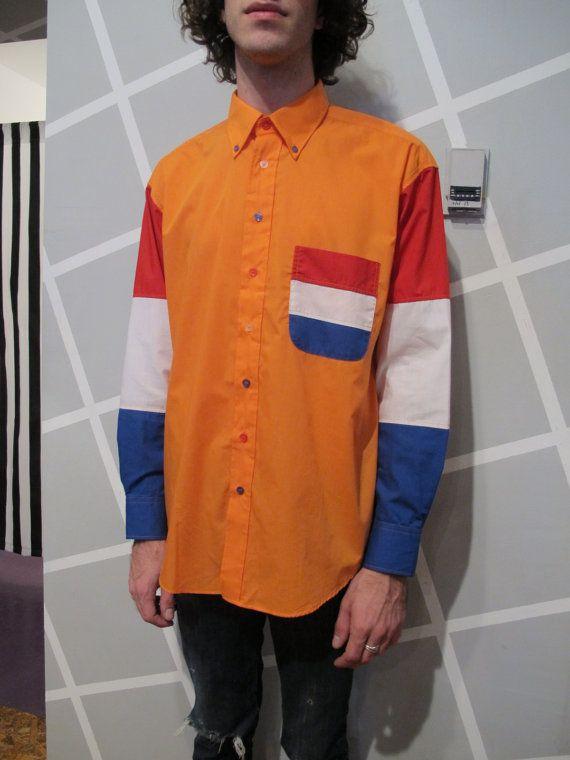 Colorblock Flag Button Down by Kokorokoko on Etsy, $22.00 /// www.art-by-ken.com