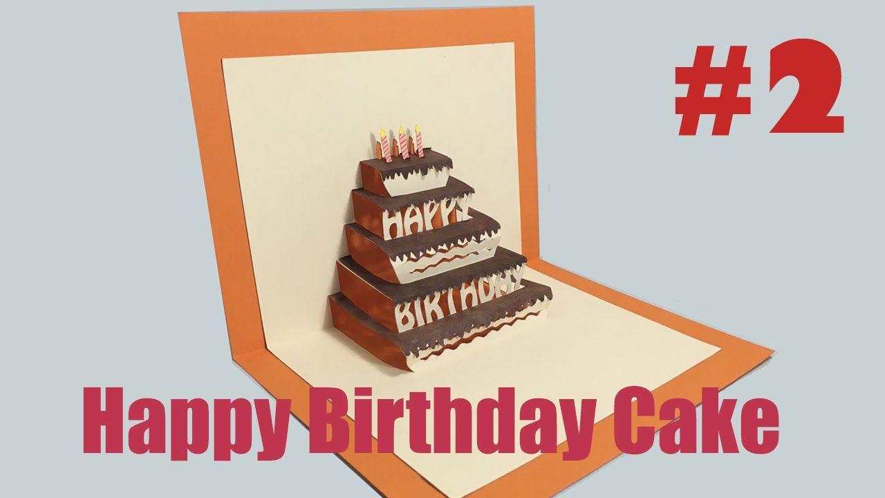 Happy Birthday Cake 2 Pop Up Card Tutorial Regarding Happy Birthday Pop Up Card Free Te Pop Up Card Templates Birthday Card Printable Birthday Card Template