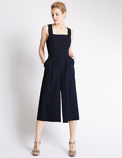 how to find size 40 discount for sale Strap Culotte Jumpsuit in 2019 | Verano | Jumpsuit, Denim ...