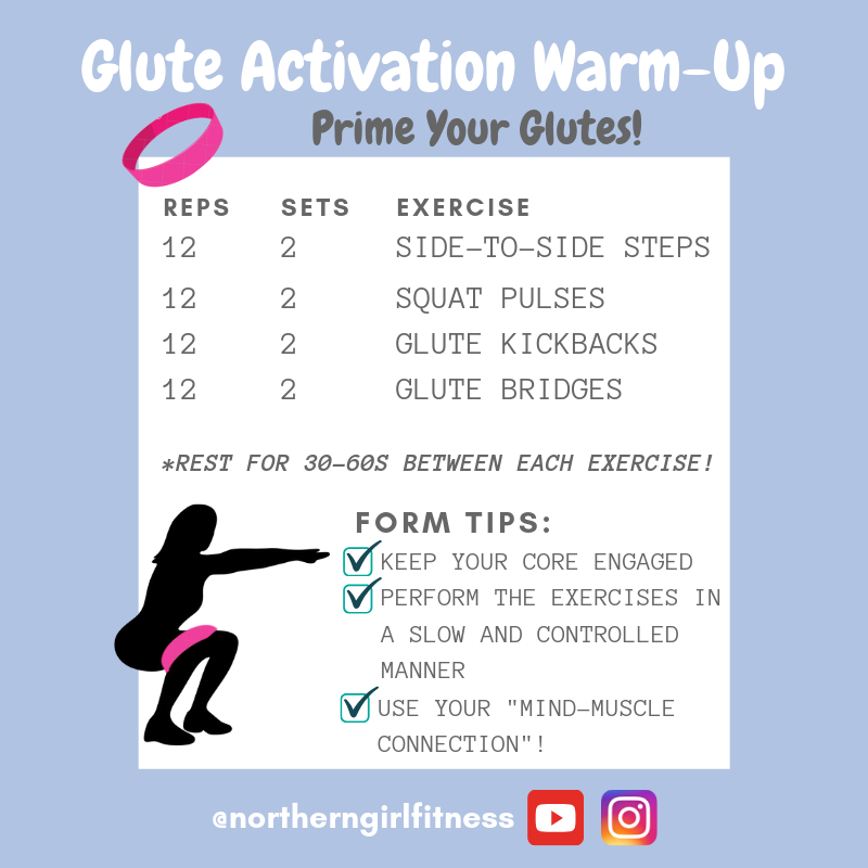 Glute Activation Warm Up Routine To Prime Your Glutes For Any Workout Glute Activation Glute Activation Exercises Glutes
