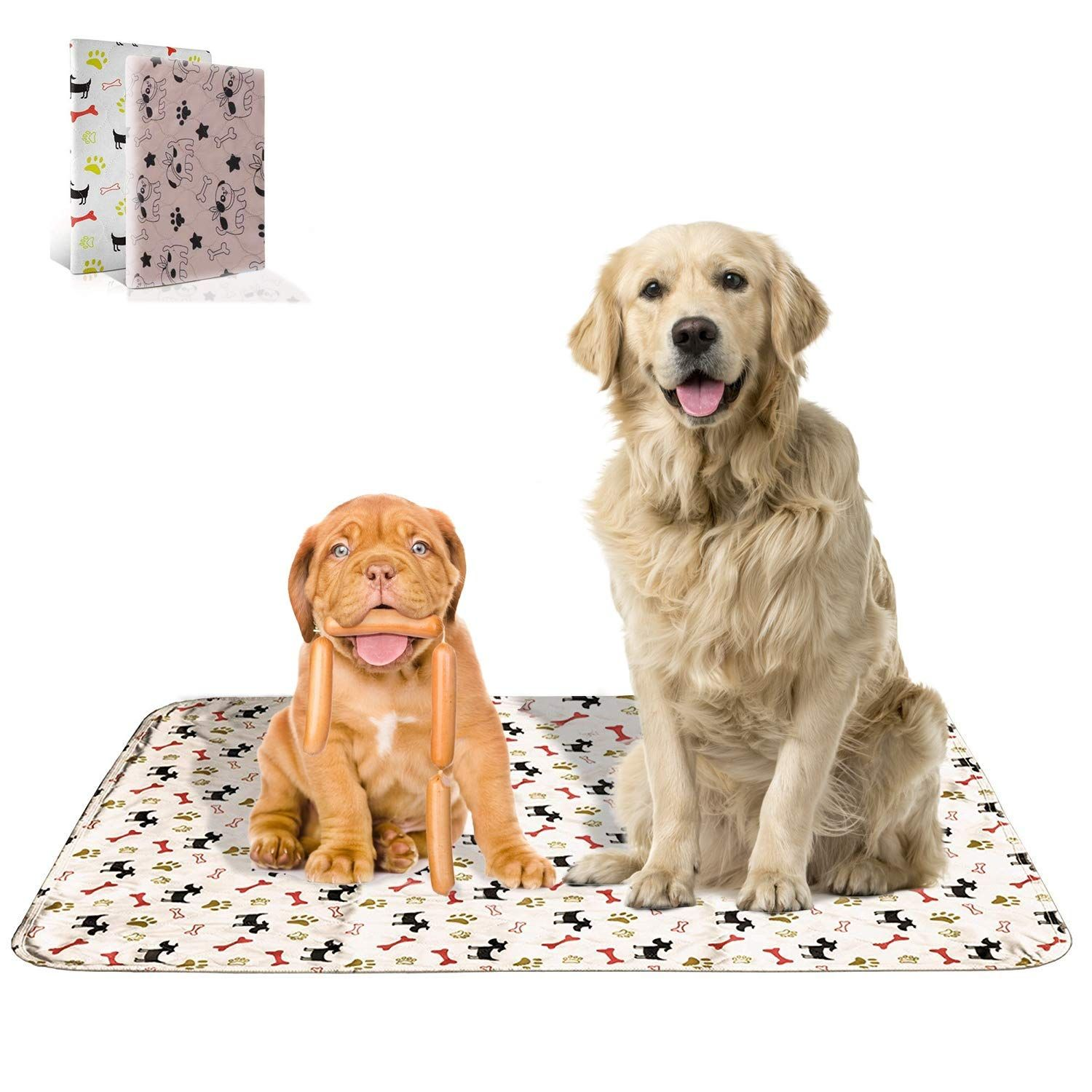 Washable Training Pee Pads For Dogs And Cats 2 Pack Medium 27x31 Absorbent Travel Pee Pads For Dogs Machine Washable And Dog Mess Dog Training Pads Dogs