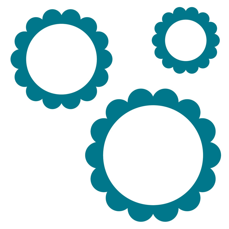 Frames Scalloped Circle Steel Rule Die Accucut Craft Silhouette Stencil Simple Scrapbook Circle
