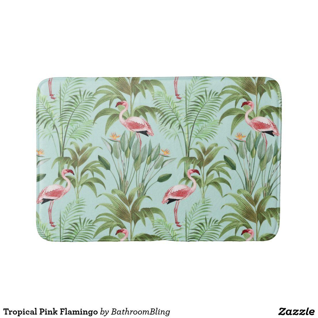 tropische roze flamingo badmat badkamer pinterest roze ipad